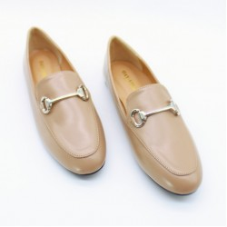 Loafers with buckle