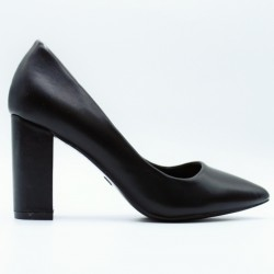 Pointed toe leather like heels