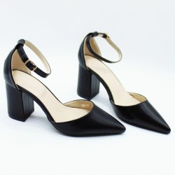 Pointed toe heels with strap
