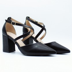 Pointed toe heels with straps