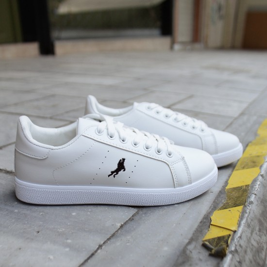 Basic Sneakers with Seamed Stamp