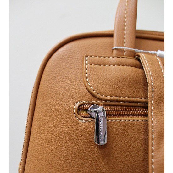 Backpack with seams and snake details